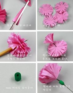 Claire's paper craft: Paper Carnation -Mother's Day