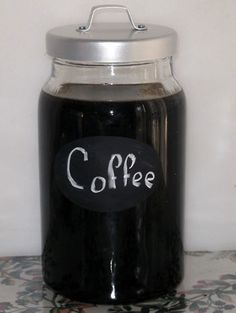 Jar of Coffee Liqueur