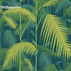 Strikingly re-imagined, Cole and Son's Palm Jungle wallpaper introduces both bold and subtle new colour ways to their popular Palm Leaves print. The beautifully- illustrated large scale leaves are there - continuing to bend in the tropical breeze - but an extra background layer of palm trees has been added to the background, giving the appearance of a dense jungle and the wallpaper a more immediate feel overall. Lovely