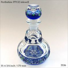 Perthshire PP132 inkwell paperweight with paperweight stopper and base.  The Paperweight People  (www.pwts.co.uk ref. 5536)