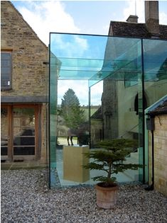 Structural Glass Cube engineered by mark lovell design engineers Glass Brick, Glass Roof, Glass Cube, Glass Boxes, Box Architecture, Fresco, Glass Extension, Glass Structure, Cottage Renovation
