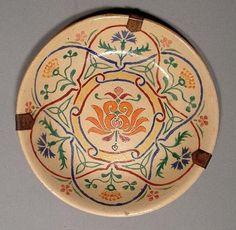 Antique Turkish Ottoman Islamic Kutahya Ceramic Dish