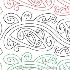 Maori Paper Machine Quilting Pattern by ClothWerx Hawaiian Tribal Tattoos, Samoan Tribal Tattoos, Maori Tattoos, Borneo Tattoos, Maori Patterns, Quilt Patterns, Maori Symbols, Polynesian Art, Cross Tattoo For Men