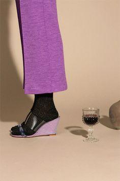 Maryam Nassir Zadeh Shoes - Violet Clear Olympia Wedge | BONA DRAG