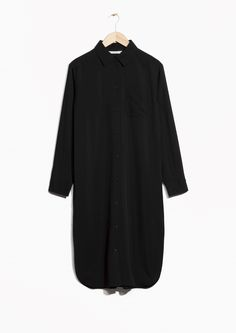 & Other Stories image 1 of Long Shirt Dress in Black