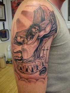 283d2c515 68 Best Crucifix Tattoos images in 2015 | Christian cross tattoos ...