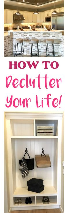 Got piles and messes taking over your home and life? Declutter Your Life Today with these 10 Ingenious Ways! Get organized today!