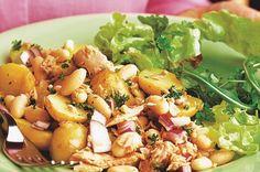 Přidat do kuchařky Sytý salát z tuňáka a fazolí