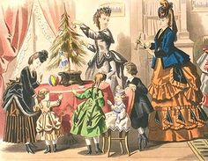 Unknown (French) Women and Children Around a Christmas Tree 1890-99