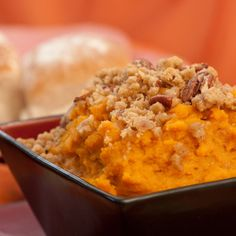Sweet Potato Souffle Recipe with eggs milk butter vanilla extract brown suga Thanksgiving Sweet Potato Suffle, Sweet Potato Pecan, Sweet Potato Casserole, Sweet Potato Recipes, Egg Recipes, Dinner Recipes, Cooking Recipes, Boston Market Sweet Potato Recipe, Thanksgiving Recipes