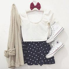Polka Dots Cute Teen Outfits, Outfits For Teens, White Converse Style, Cute Bikinis, Wardrobes, My Wardrobe, Fitness Fashion, Love Fashion, Going Out