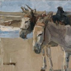 Twee ezeltjes, Isaac Israels, , 1897 - 1901