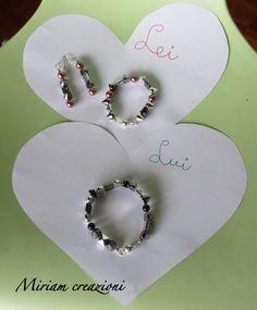 """Bracciali con borchie e perle """"Lui&Lei"""", by vetrina miriam chiocciola, 20,00 € su misshobby.com"""