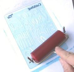 Cuttlebug Embossing Tips:  Could be used with any manual diecutting maching and embossing folders.