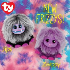New Frizzys, Jips and Zwippy, are now available in the online Ty Store now!