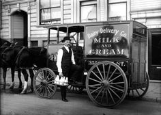Milk was delivered daily by the local milk wagon - those gallons of coffee Kye and Chance drank would have taken a good bit of milk