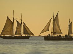 Pearl Luggers off Cable Beach, Western Australia.
