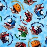 The Color Express Thomas The Tank Engine Trains Blue Cotton Fabric