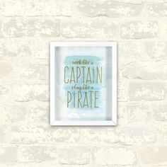 8 in. x 10 in. Captain Pirate 1-Piece Shadowbox with Metallic Screenprint