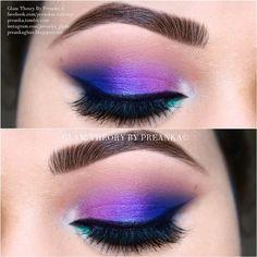 Colorful eyeshadow look