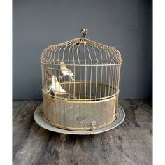 Vintage Bird Cage and Birds by JustSmashingDarling on Etsy, $39.00