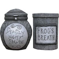Deadly Nightshade Frog's Breath salt pepper shakers - Polyvore