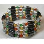 Multicolor and MAGNETIC HEMATITE BRACELET Holistic Healing Through Natural Magnets