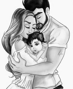 Image uploaded by Türk Kızı. Find images and videos about love, art and couple on We Heart It - the app to get lost in what you love. Cute Couple Drawings, Cute Couple Art, Love Drawings, Mother Daughter Art, Mother Art, Mother And Child Drawing, Sarra Art, Girl Drawing Sketches, Drawing Art