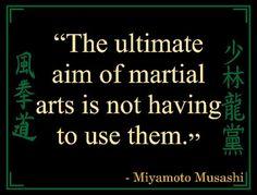 "As my sensei told me, aikido gives us the chance to walk away. ""The ultimate aim of martial arts is not having to use them. Kenpo Karate, Shotokan Karate, Qi Gong, Jiu Jitsu, Tai Chi, Karate Quotes, Taekwondo Quotes, Tang Soo Do, Martial Arts Quotes"