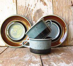 Vintage Arabia Finland Demitasse Cup with Saucer Earthenware, Stoneware, Tea Cup Saucer, Tea Cups, Wood Basket, Porcelain Ceramics, Scandinavian Design, Finland, Dinnerware