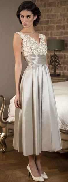 Only $89 for a quality mother of the groom dress! Be special in this rustic vintage mother of the bride dress at the marriage ceremony of your children! An excellent match for a white wedding theme, you'll fit perfect with the bride! See more at http://www.cutedresses.co/product/v-neck-sleeveless-tea-length-mother-bride-dress/