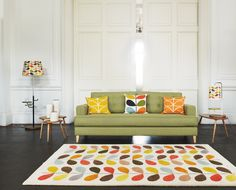Mistral Sofa with Orla Kiely accessories. All available at Heal's