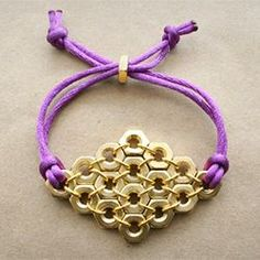 Cute and easy bracelet made from supplies found in a hardware store. Brighten up your accessories with this DIY bracelet #Bracelets  http://coolbraceletscollections871.blogspot.com