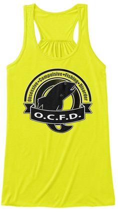 Fishing Fisherman Funny  Ocfd T  Shirt Neon Yellow Women's Tank Top Front