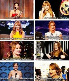 I love the last one! She's kinda my idol Charlie Chaplin, Jeniffer Lawrance, Jennifer Lawrence Hunger Games, Jennifer Lawrence Funny, Hunger Games Cast, Nerd, Josh Hutcherson, Liam Hemsworth, Lol