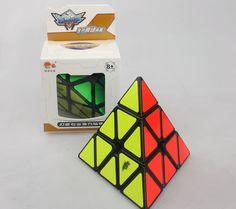 Cyclone Boys Pyraminx Magic cube pyramid Speed cube 3x3 Black Twist Puzzle