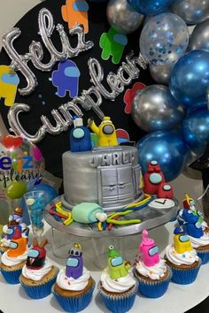 10th Birthday Parties, Birthday Party Themes, Boy Birthday, Two Tier Cake, Beautiful Birthday Cakes, Tiered Cakes, Party Cakes, Party Planning, Cupcake Cakes
