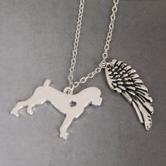 >> Click to Buy << Boxer My Angel with Wings Dog Lover Necklace Pendants Charms Memorial Gift Jewelry Necklace Women Choker Plated Lead Free #Affiliate