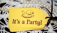 Rubber Ducky Hand Stamped Tags  Birthday Party by Booksonblocks, $3.95