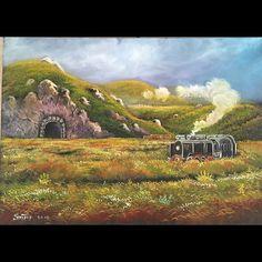 ✨KARA TREN ✨ Tuval Üzeri Yağlı Boya.  #resim #tablo #sergi #resimsergisi #ressam #yağlıboya #oilpainting #sanat #ankara #izmir #istanbul #art #artwork #fineart #vscocam ✨Bu Esere Sahip Olmak İçin; Okan Sartaş 05074409494✨ #drawing #canvas #ig_turkey #turkeyinstagram #turkeyartist #artofdrawing #ig_art
