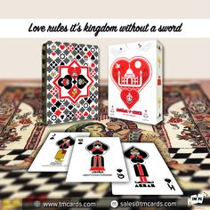 Our fine-tuned processes and printing capabilities come from over 45 years of experience making custom playing cards and personalized playing cards. Personalized Playing Cards, Custom Playing Cards, Promotion Marketing, Marketing Tools, Love Rules, King Queen, Poker, Create Yourself, Business Cards