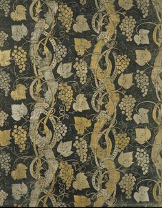 Printed velvet furnishing fabric, Mario Fortuny, 1927, Italy.