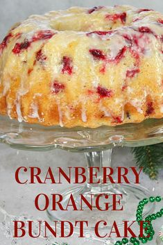 CRANBERRY ORANGE BUNDT CAKE I just took my first bite of this cake I made yesterday. It taunted me all day but I resisted. This cake is super moist and the cranberries in a wonderful contrast to the sweetness of the cake Köstliche Desserts, Delicious Desserts, Dessert Recipes, Fall Cake Recipes, Food Cakes, Cranberry Orange Cake, Cranberry Pound Cake Recipe, Fresh Cranberry Recipes, Bunt Cakes
