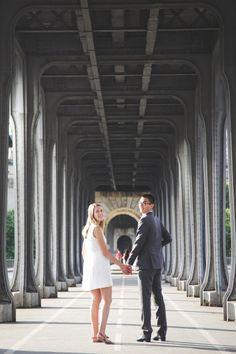 Passy Bridge in Paris, France