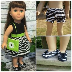 18 Girl Doll Clothes Combo Zebra Doll by sassydollcreations