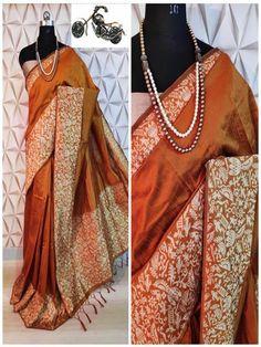 Stylish Look Multi Color Raw Silk Weaving Saree With Rich Pallu -Style Array Designer Sarees Collection, Saree Collection, Festival Wear, Festival Fashion, Work Sarees, Silk Sarees Online, Sari Fabric, Saree Wedding, Wedding Wear