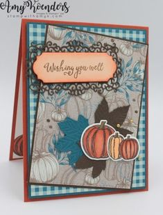 Stamp With Amy K – Page 5 – Amy Koenders, Independent Stampin' Up! Demonstrator in Mendham, New Jersey…Let's make some cards! Some Cards, Get Well Cards, Pink Cards, Stampin Up Catalog, Making Greeting Cards, Thanksgiving Cards, Scrapbook Cards, Scrapbooking, Fall Cards