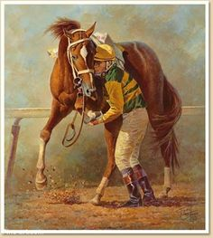 A Horse Named Charismatic - 1999 Derby and Preakness winner, but was injured in the Belmont Stakes and finished Chris Antley jumped off after the finish to support his injured leg. Saratoga Horse Racing, Courses Hippiques, Pur Sang, Horse Names, Painted Pony, Thoroughbred Horse, Horse Drawings, Racehorse, Sport Of Kings