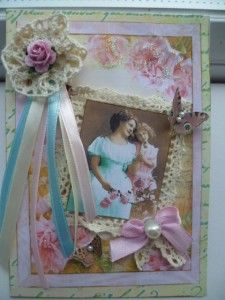 Mother's Day card using images from The Gecko Galz