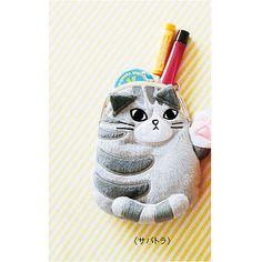もふもふにゃん 肉球付き猫がま口ポーチの会(6回限定コレクション) | フェリシモ